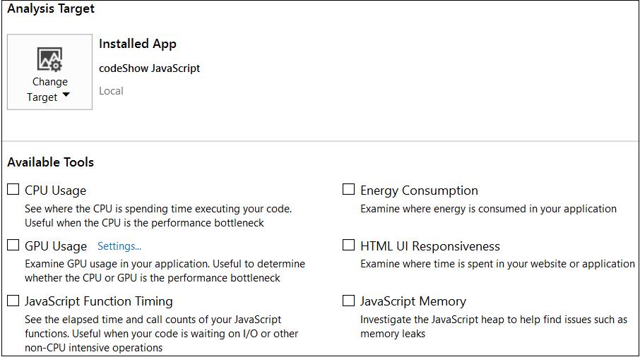Performance Profiling of  NET Applications in Visual Studio