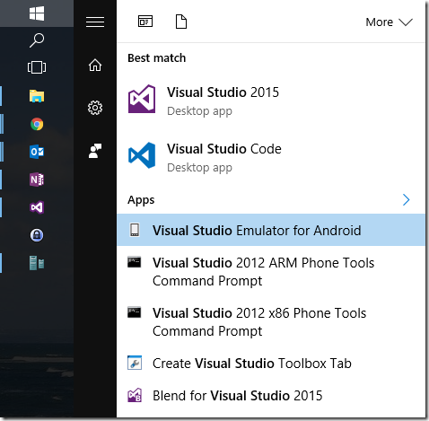 New Android Emulator for Xamarin Development in Visual